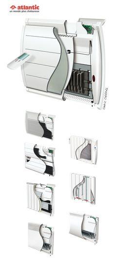 Ecorchés de radiateurs Atlantic. Illustrations Cédric CHAPAL