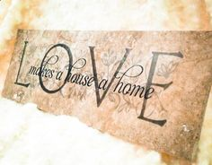 Ceramic Tile Love Makes a House a Home Tile Home by AMcraftstudio