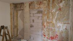 Nedrivning af gips væggen
