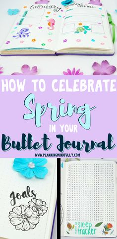 All your inspirational and beautiful spring bullet journal layouts right here! Get spring-themed trackers, monthly layouts, weekly spreads, and decoration assistance for a beautiful bujo to commemorate one of the best seasons of the year. Bullet Journal Set Up, Bullet Journal Printables, Bullet Journal How To Start A, Journal Template, Bullet Journal Layout, Bullet Journals, Planner Diy, Planner Supplies, Planner Ideas