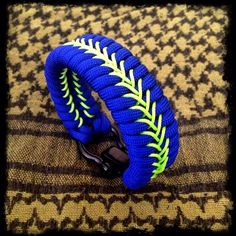 Electric blue & neon green microcord