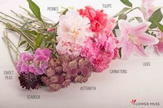 Pink Bouquet with Peonies and Lilies - DIY tutorial on Flower Muse blog