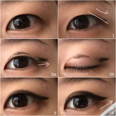 Monolid Make Up: Tutorial: Eyeliner for Hooded Monolids / Single Ey...