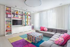 Punchy Color Accents Uplift Contemporary Penthouse in Bulgaria - http://freshome.com/contemporary-penthouse/