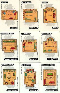 printable clue game cards - Google Search