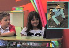 """""""Niños vs. Moda"""" - Crianças explicam campanhas de moda em projeto de artista espanhola (Foto: Reprodução/Youtube)"""