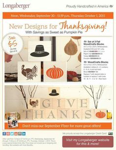 Welcome Fall with our beautiful woodcraft blocks ~ www.longaberger.com/mariaammar
