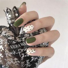 Pink Nail Art, Cute Nail Art, Pink Nails, Cute Nails, Pretty Nails, Colorful Nails, Avocado, Bridal Nails, Green Nails