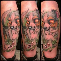 My dog and ferret by Leo Valverde #tattoo