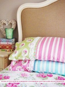 How To Sew An Adorable Pillowcase With Pretty Trims - Heart Handmade uk