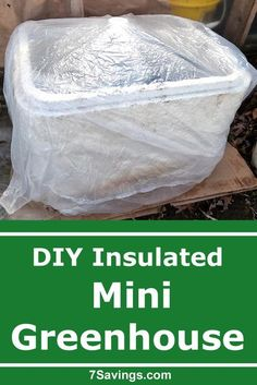 Start your seeds early or grow cold weather crops late winter and early spring with this DIY mini Greenhouse with insulation. Very easy and simple to do. #greenhouse #minigreenhouse #insulatedgreenhouse #seedstarting #seeds #grow #garden #wintergrow #diy #diygreenhouse Diy Mini Greenhouse, Greenhouse Growing, Greenhouse Plans, Diy Projects For Beginners, Gardening For Beginners, Gardening Tips, Vegetable Gardening, Cold Climate Gardening, Inside Plants