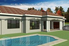 3 Bedroom House Plan In South Africa-Modern 3 Bedroom House Plans South Africa 4 Bedroom House Designs, Four Bedroom House Plans, Tuscan House Plans, My House Plans, House Plans With Photos, Garage House Plans, 3 Bedroom House, Modern House Plans, Double Storey House Plans