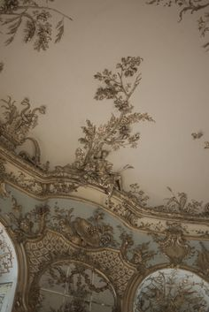 Ceiling detail  in Amalienburg. Schloss Nymphenburg, Munich