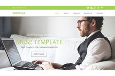Rozorina Multi-page Muse Template by Creative Slides on @creativemarket
