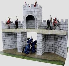 Castle Facade Papercraft for Miniatures Free Template Download | PaperCraftSquare | Bloglovin'