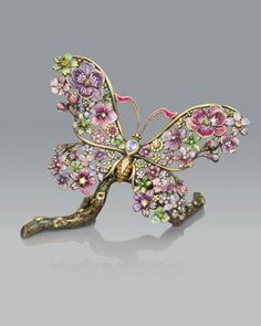 """""""Floral Butterfly"""" Figurine by Jay Strongwater at Neiman Marcus."""