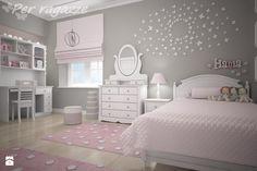 Duży pokój dziecka dla dziewczynki dla ucznia dla nastolatka - zdjęcie od perragazze.pl