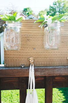 fox and gypsy: mason jar orgainzer diy Ball Jars, Mason Jar Diy, Organizing, Gypsy, Fox, Night, Storage, Projects, How To Make