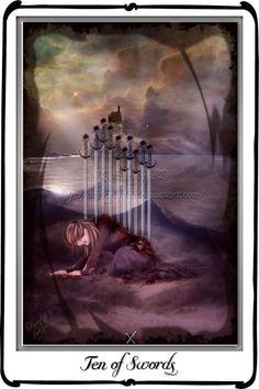 Tarot- ten of Swords by `azurylipfe on deviantART