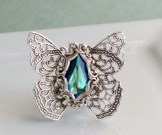 Butterfly RingAntique by PursesonalStyle on Etsy, $40.00