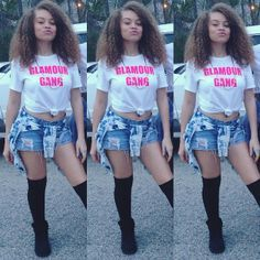 Designer Clothes, Shoes & Bags for Women Hip Hop Outfits, Chill Outfits, Pink Outfits, Cute Outfits, Dance Team Pictures, Ex Girl, Pretty Girl Swag, Swag Style, Street Outfit
