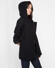 CdC Wool zip coat VAMEL - Colour BLACK GBP 230