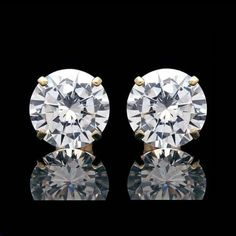 FB Jewels 925 Sterling Silver Mens Womens Unisex Princess Cubic Zirconia CZ Stud Square Cluster Earrings 10mm
