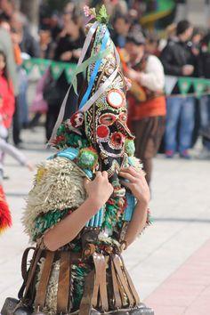 Kukeri Festival near Yambol, Bulgaria