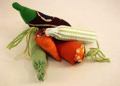 Handmade+Fabric+Vegetables,+3+pieces+from+Mamma+Couture+by+DaWanda.com