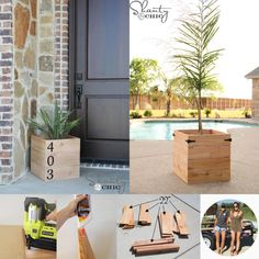 Best selection of free woodworking DIY plans for building a square planter box. Square planters for every style and taste. Easy, simple and all beautiful. 12 Creative Easy Woodworking Projects For Your Weekend Planter Box Designs, Square Planter Boxes, Planter Box Plans, Wood Planter Box, Woodworking Bench Plans, Small Woodworking Projects, Japanese Woodworking, Woodworking Supplies, Woodworking Chisels