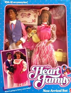 Nib Barbie Doll 1986 Vintage The Heart Family Grandma