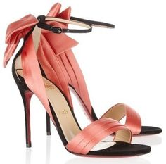 Christian Louboutin Dream On Vampando Satin Sandals - LoLoBu