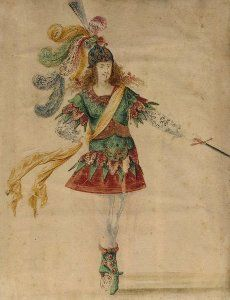 Mollier/Benserade, Ballet Royal de la Nuit, 1653: Louis XIV à l'épée (Costume Design H. de Gissey)