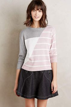 Opposing Stripe Pullover - anthropologie.com