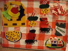 Flannel Friday: Two Greedy Ants | Read It Again! Amazing flannel board!