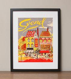 French Design House Svend Retro Advertising Art Print by HotFishReproRetro, $22.00