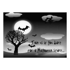 haunted  Halloween Party Invitations