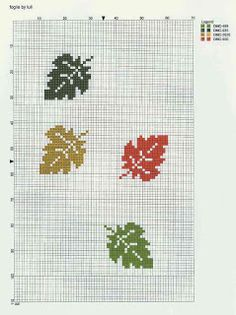pattern for autumn leaves