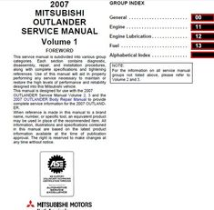 mitsubishi outlander service manual 2007