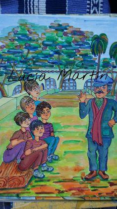 """Ilustración de Lucía Martín.Cuento   """"Dimitrov"""" de J. Nieto."""