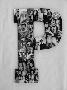 Custom  Photo Collage letter  - Girlfriend gift - College dorm room decor  Maybe one for each of the kids (first initial) with favorite pics through the years, or one of our last initial with pics of our extended family members