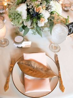 My Weekend Lookbook: October 3-5, 2014 // A Southern Wedding // place setting