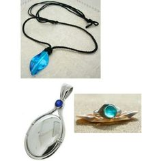 Mako mermaid necklaces and a ring