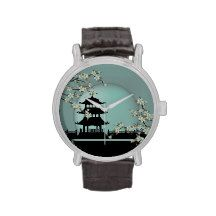 Pagoda turquoise moonlight wristwatches