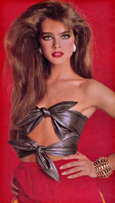 Brooke Shields by Francesco Scavullo for Cosmopolitan US in 1981.