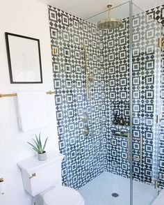 What's black and white with gold all over? Our newly renovated master bathroom!!!! Ok, this is my last post of it today but I just love it so much and I'm so thrilled all you sweetie cuties love it too! #OMGWeBoughtAHouse #mrkate #renovate #interiordesign #mrkate1million #decorate #whynot #becausewhynot