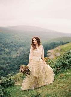 Wedding dress for an earthy, outdoor, rustic style wedding.    Production, Art Direction & Styling | Pearl & Godiva Photography | Rylee Hitchner