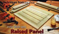 3173-Raised Panels on Table Saw