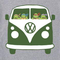 ninja turtles kombi van cool retro