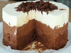 Good Chocolate Dessert Recipes is One Of Beloved Of Many Persons Round the World. Besides Simple to Create and Excellent Taste, This Good Chocolate Dessert Recipes Also Health Indeed. Triple Chocolate Mousse Cake, Best Chocolate Desserts, Tasty Chocolate Cake, Chocolate Cheesecake, Chocolate Mouse, Best Dessert Recipes, Sweets Recipes, Delicious Desserts, Greek Sweets